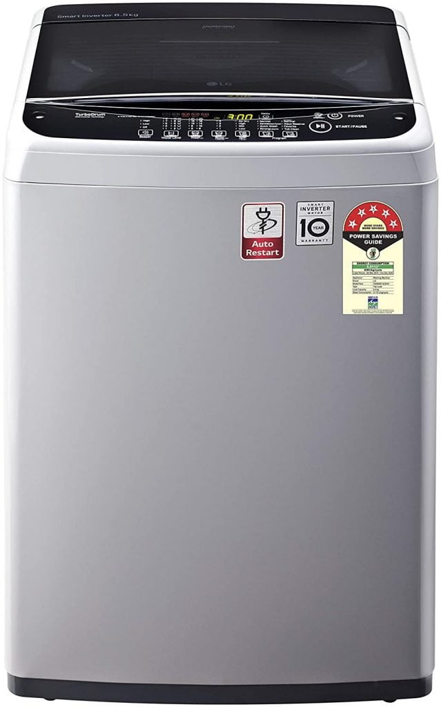 LG 6.5 Kg 5 Star Smart Inverter Fully-Automatic Top Loading