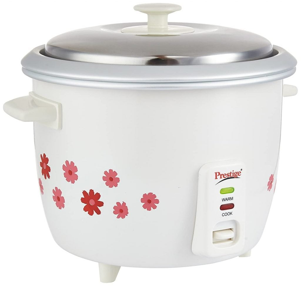 Prestige Electric Rice Cooker with 2 Aluminium Cooking Pans